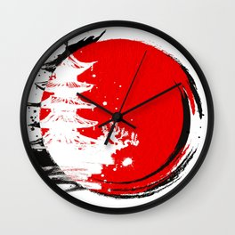 Japanese Temple at the Sun Wall Clock