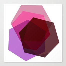Purple Hex Canvas Print