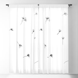 Dandelion seeds blown by the wind Blackout Curtain