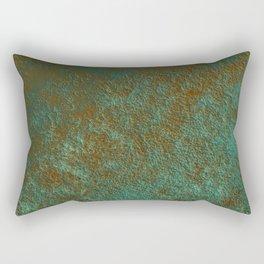 Green Patina Copper rustic decor Rectangular Pillow