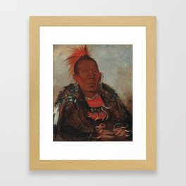 The Surrounder, Chief of the Tribe Framed Art Print