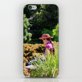Lady In The Garden iPhone Skin