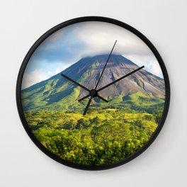 Arenal volcano mountains stratovolcano Costa Rica Wall Clock