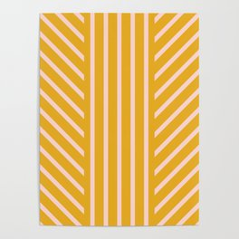Lined Marigold Poster