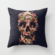 Jungle Skull Throw Pillow