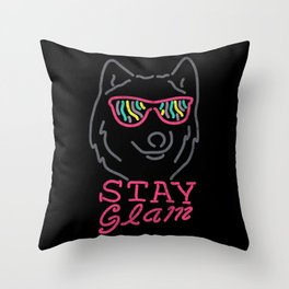 Stay Glam Throw Pillow