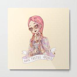 Pastel Grunge Girl Metal Print