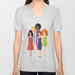 Spring girls Unisex V-Neck