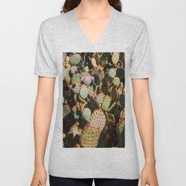 Cactus Pattern Unisex V-Neck
