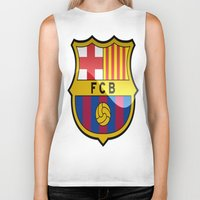 barcelona Biker Tanks featuring BARCELONA by Acus