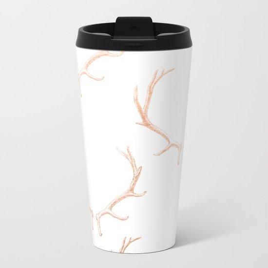 Reindeers Metal Travel Mug