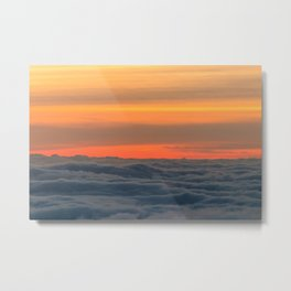 Magical sunset above the clouds Metal Print
