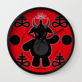 Baphomet Teddy Wall Clock