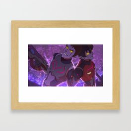 lets be bad Framed Art Print