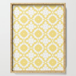 HELLO YELLOW - DAMARIS MORROCCAN PATTERN by MS Serving Tray