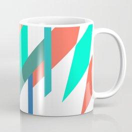 Neon Grapefruit and Electric Mint Shapes Coffee Mug