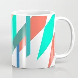 Neon Grapefruit and Electric Mint Shapes Coffee Mug