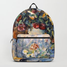 """Paul Cezanne """"A Large Bouquet of Flowers """" Backpack"""