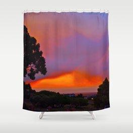 Smoky Sunset Bay Shower Curtain