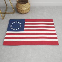 Betsy Ross USA flag Rug