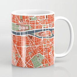 Paris city map classic Coffee Mug