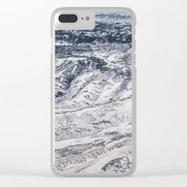 Aerial shot of winter snow mountain Clear iPhone Case