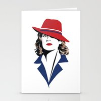 peggy carter Stationery Cards featuring Peggy Carter by Arne AKA Ratscape