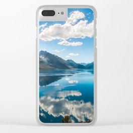 Sun rays at Lake Wakatipu, New Zealand Clear iPhone Case