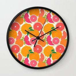 Grapefruit Harvest Wall Clock