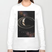 saturn Long Sleeve T-shirts featuring SATURN by Alexander Pohl