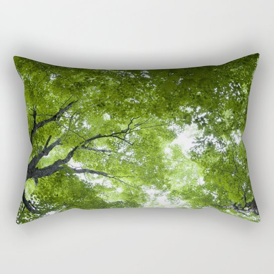 Leaves and Lace Rectangular Pillow
