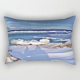 Frozen Selfie by the Sea Rectangular Pillow