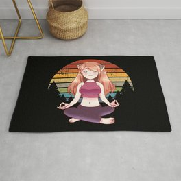 Yoga Meditation Yoga Anime Girl Namaste Gift Rug