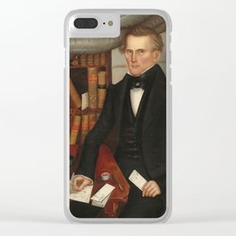 Vermont Lawyer Oil Painting by Horace Bundy Clear iPhone Case