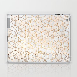 Organic Geometry - Copper and Mother of Pearl Laptop & iPad Skin