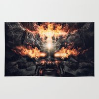 diablo Area & Throw Rugs featuring Diablo by dracorubio