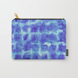 Tie Dye Shibori Water Cubes in Indigo Blue Carry-All Pouch