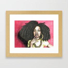 ghetto curls  Framed Art Print