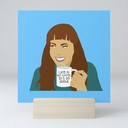 Life Is Like Coffee Mini Art Print
