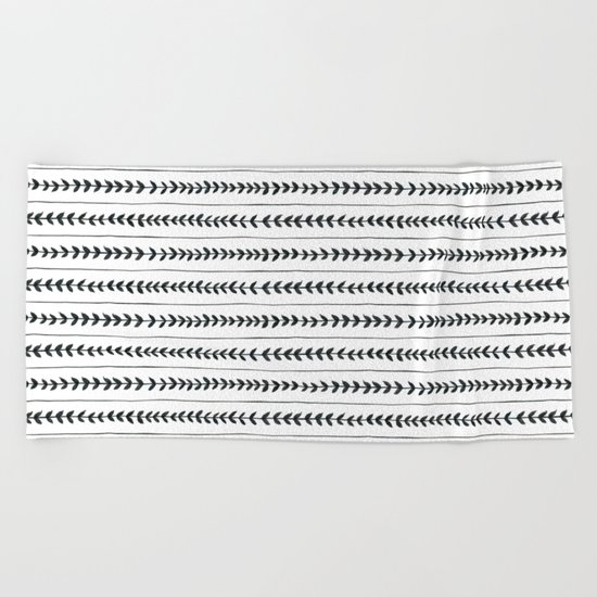 Laurel stripe - back and forth Beach Towel