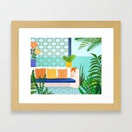 Sanctuary - Tropical Garden Villa Framed Art Print