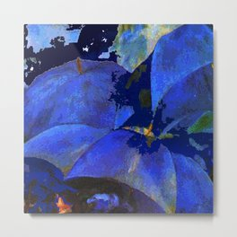 manet umbrellas blue Metal Print