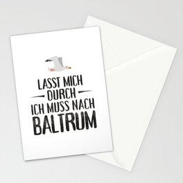 Lasst mich durch ich muss nach Baltrum Möwe Stationery Cards
