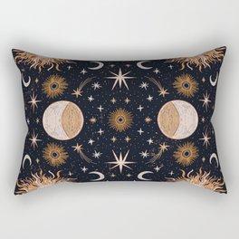 Moon Sun Stars Rectangular Pillow