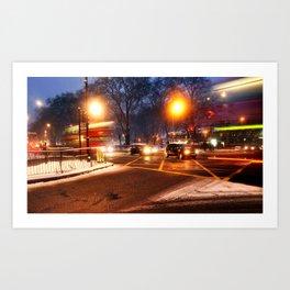 Turnpike Lane London Bus Art Print