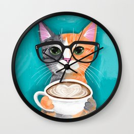 A Latte of Love Wall Clock