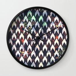 Seashell forest - Geometric repeat pattern Wall Clock