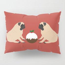 Christmas Pudding and Pugs Pillow Sham