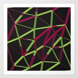 3D Futuristic GEO Lines X Art Print