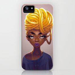 Gold Locs iPhone Case